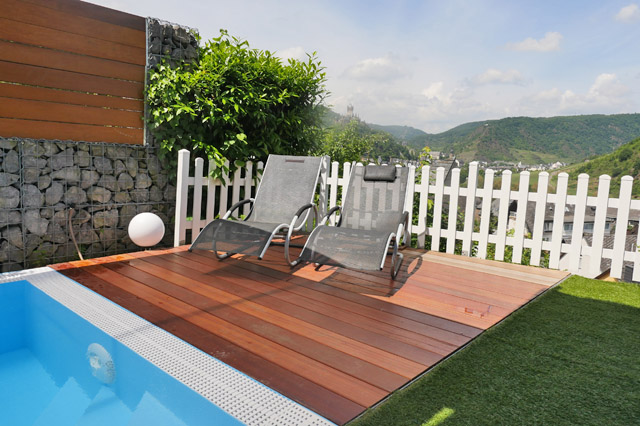 anita 39 s ferienhaus cochem mosel ferienwohnung garden mit mosel burgblick und pool sauna. Black Bedroom Furniture Sets. Home Design Ideas